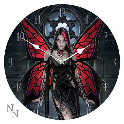 13.5 Anne Stokes Collection Aracnafaria - Gothic Spider Fairy Fantasy Art Wall Clock By Anne Stokes - ArtsiHome