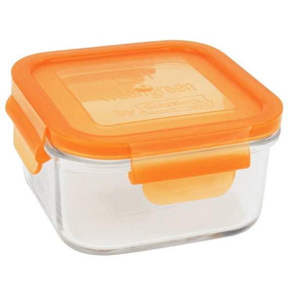 Wean Green Lunch Cubes Glass Food Containers, Single, Carrot - ArtsiHome - Wean Green - 3