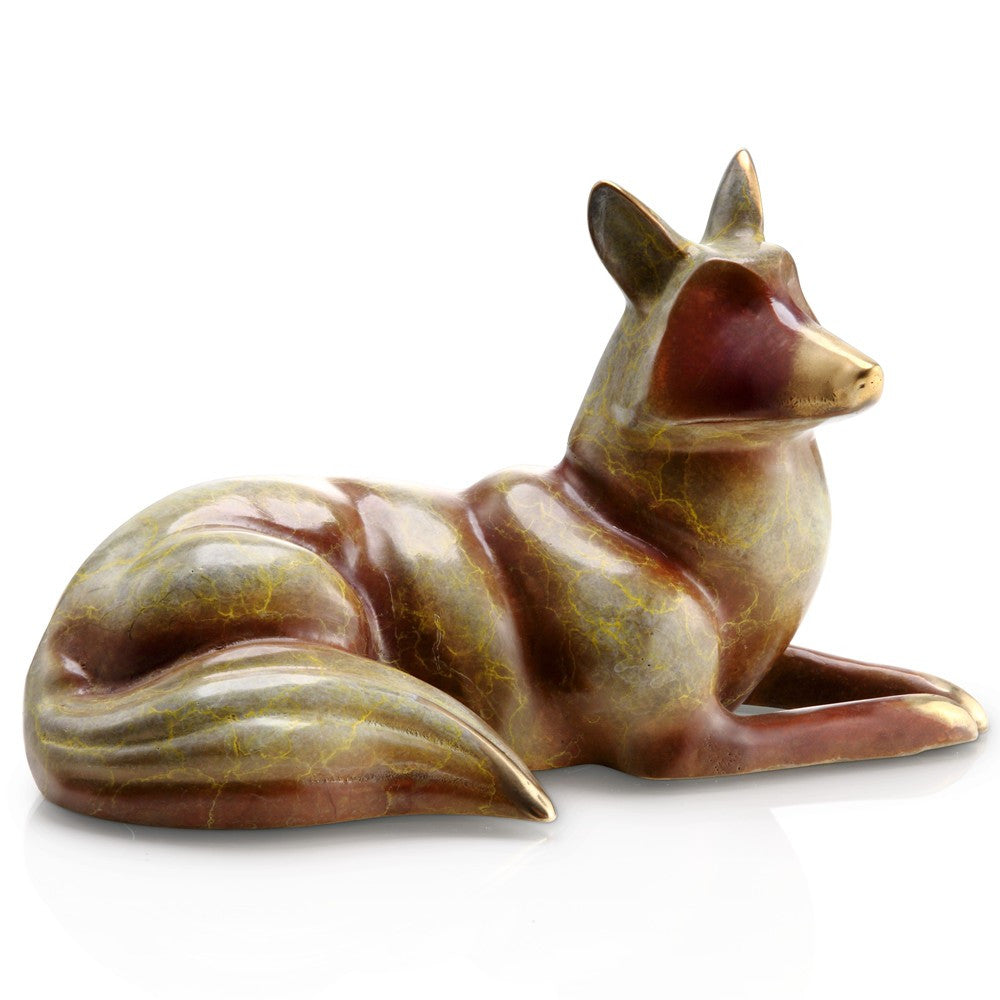 SPI Home Collection Resting Fox Statue - ArtsiHome