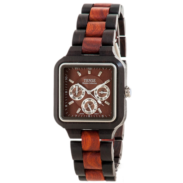 Tense Men's Summit Watch (Light/Dark Sandalwood) - ArtsiHome