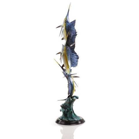SPI Home Collection - Marlin and Sailfish Seascape Statue [Kitchen] - ArtsiHome