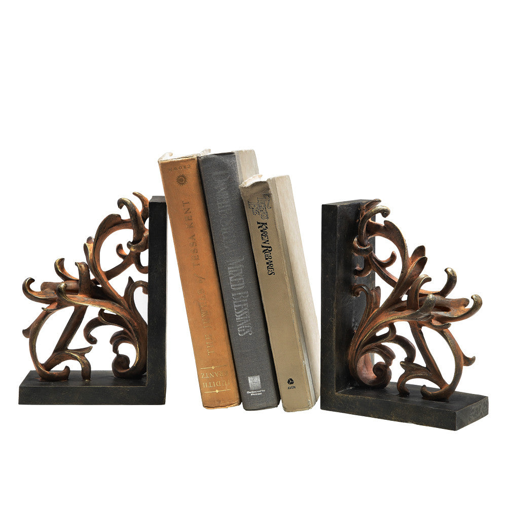 Elegant Scroll Bookends - ArtsiHome