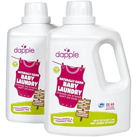 Dapple Baby Laundry Detergent Fragrance Free - 100oz - 64 loads- 2pk - ArtsiHome