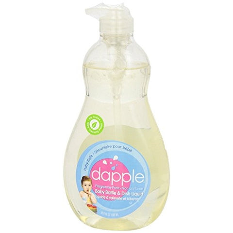 Dapple Fragrance-Free Baby Bottle and Dish Liquid - 16.9 Oz, Pack of 6 - ArtsiHome