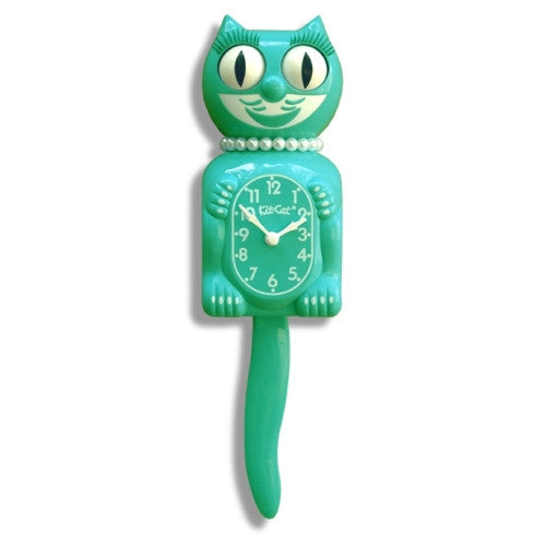Limited Edition Lady Kit-Cat Clock - Emerald Green - ArtsiHome