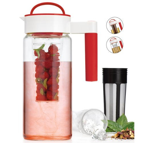 Home Essentials 3-In-1 Pitcher W/Infuser & Ice Liner, 1.65L - ArtsiHome