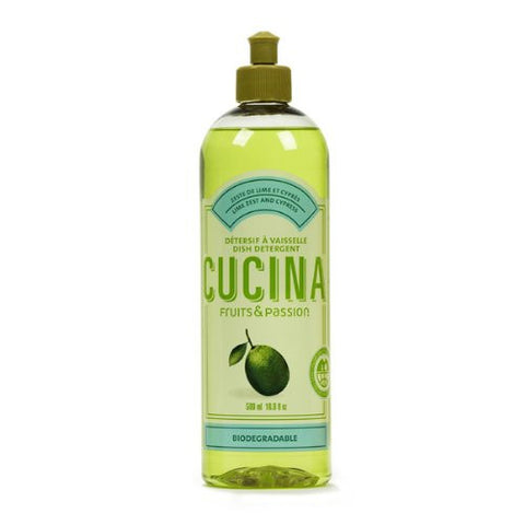 Cucina Lime Zest and Cypress 16.9 oz Concentrated Dish Detergent - ArtsiHome - FRUITS AND PASSION