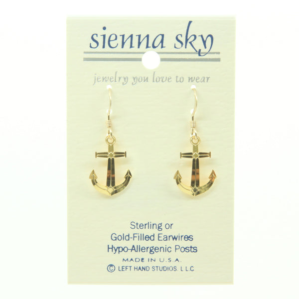 Sienna Sky Gold Plate Anchor Earrings - ArtsiHome