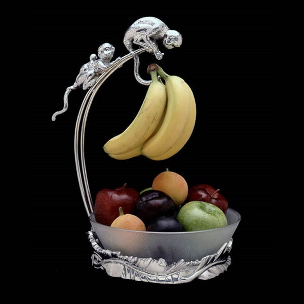 Arthur Court Monkey Banana Holder with Bowl - ArtsiHome