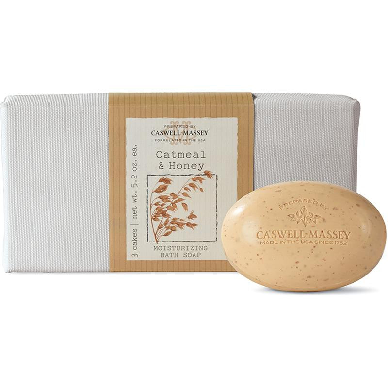 -???-Caswell-Massey Oatmeal and Honey Bar Soap Set, 3 Count - ArtsiHome