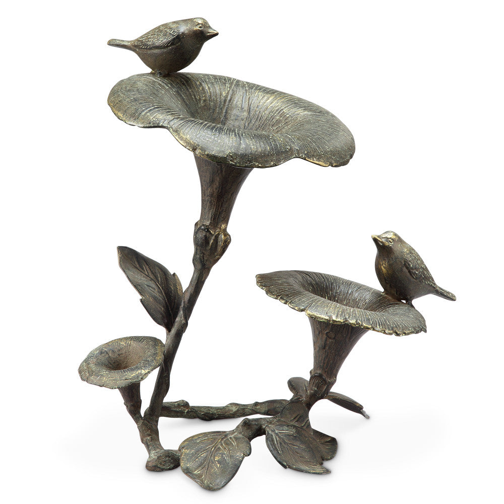 SPI Collection Morning Glory & Bird Pair Bird Sculpture - ArtsiHome