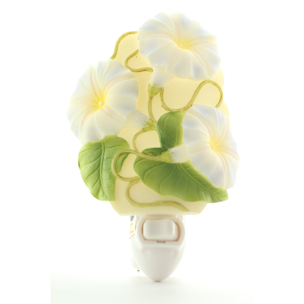 Morning Glory Night Light, Ibis & Orchid Nightlights, NIB, 50038 - ArtsiHome