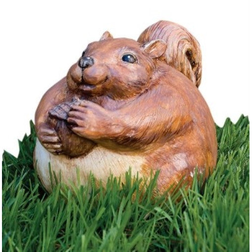 Evergreen 84889 Garden Portly, Squirrel, 6.5-Inches x 5.5-Inches - ArtsiHome