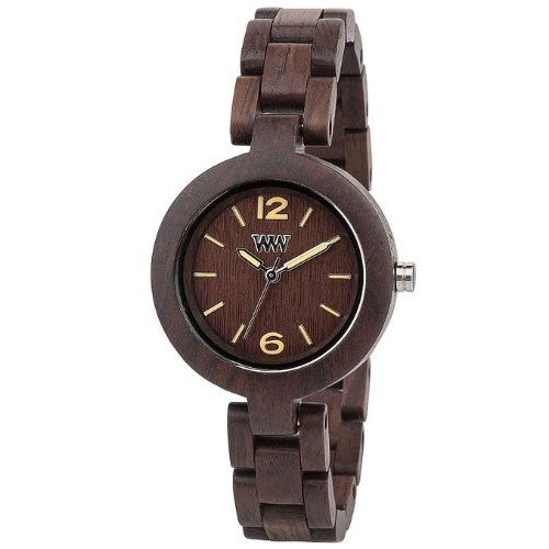 WeWood Lady's Mimosa Wooden Watch - Chocolate - ArtsiHome - WeWood