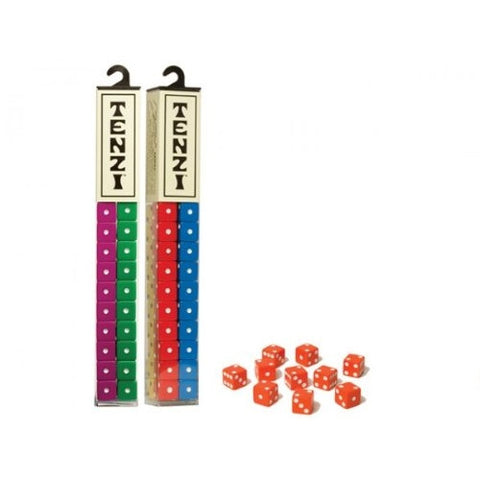 Tenzi 2 Pack for 8 Players - Assorted Colors - 8 Sets of Ten Dice - ArtsiHome