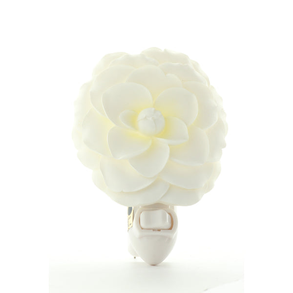 White Camellia Night Light, Ibis & Orchid Nightlights, NIB, 50165 - ArtsiHome - Ibis&Orchid - 1