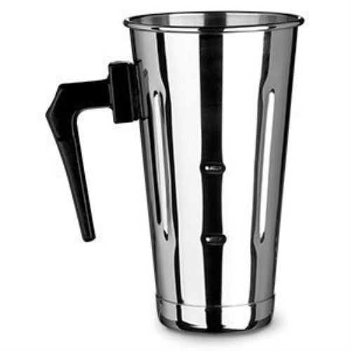 Libertyware Stainless Steel Malt Cup with Black Plastic Handle - 30 oz - ArtsiHome