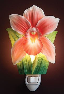 Ibis & Orchid Pink Cattleya Orchid Night Light #50194