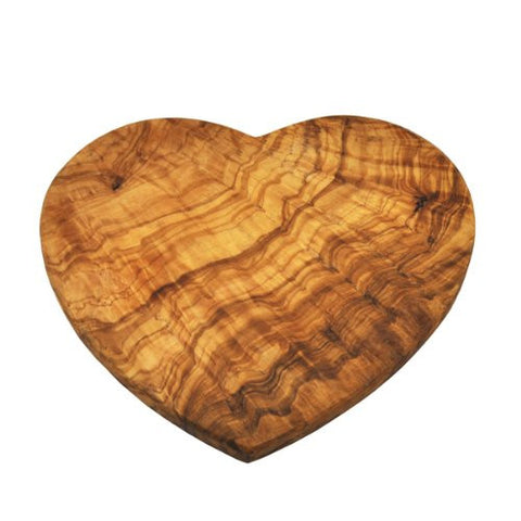 Naturally Med Olive Wood Heart Shaped Board - ArtsiHome