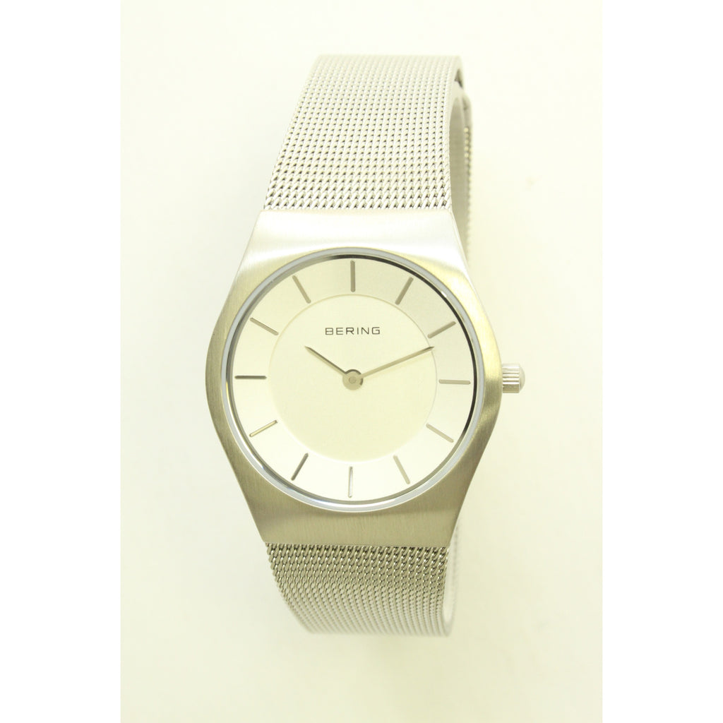 Bering Classic Slim Ladies Watch (Silver Mesh) - ArtsiHome