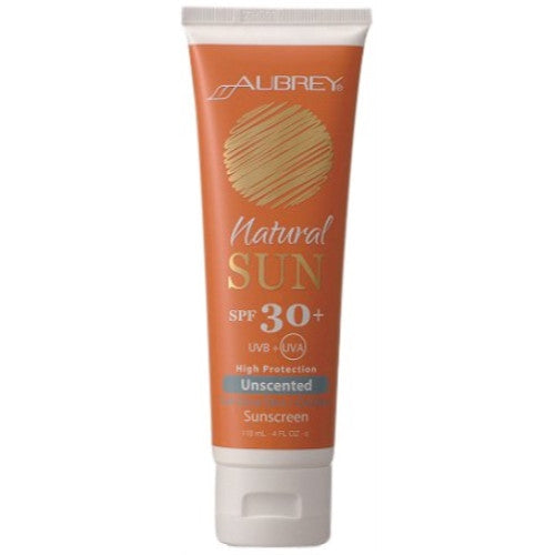 Aubrey Organics 4 oz. SPF 30 Children's Sunscreen-Unscented - ArtsiHome