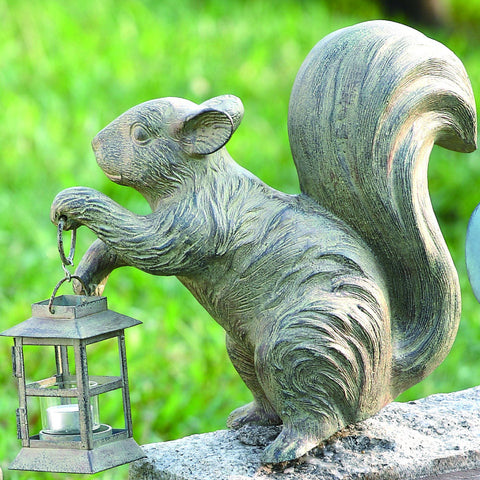 SPI Outdoor Collection Aluminum and Iron Squirrel Lantern - ArtsiHome