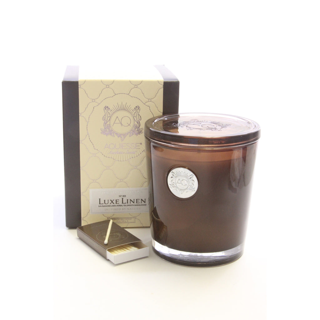 Aquiesse Fresh Luxe Linen Scented Candle -10 oz - ArtsiHome