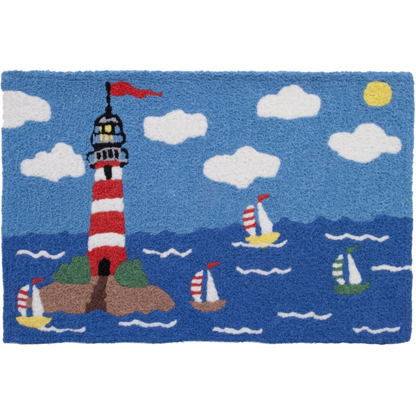 Jellybean Sunny Lighthouse Outdoor Door Mat - ArtsiHome