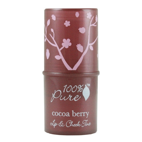 100% Pure Shimmery Cocoa Berry Lip & Cheek Tint - ArtsiHome