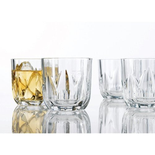 Home Essentials Set Of 4 Brittany 10 Oz Double Old Fashioned Glasses - ArtsiHome