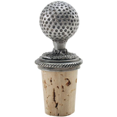 Epic Products Golf Ball - Genuine Pewter Wine Bottle Stopper - ArtsiHome