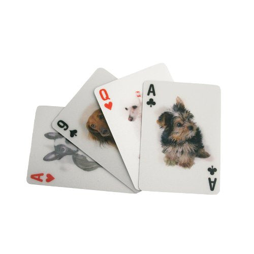 Kikkerland 3D Lenticular Deck Cards Poker Dog Dogs Puppy - ArtsiHome