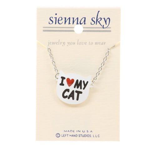 Sienna Sky I 'Heart' My Cat Necklace - ArtsiHome
