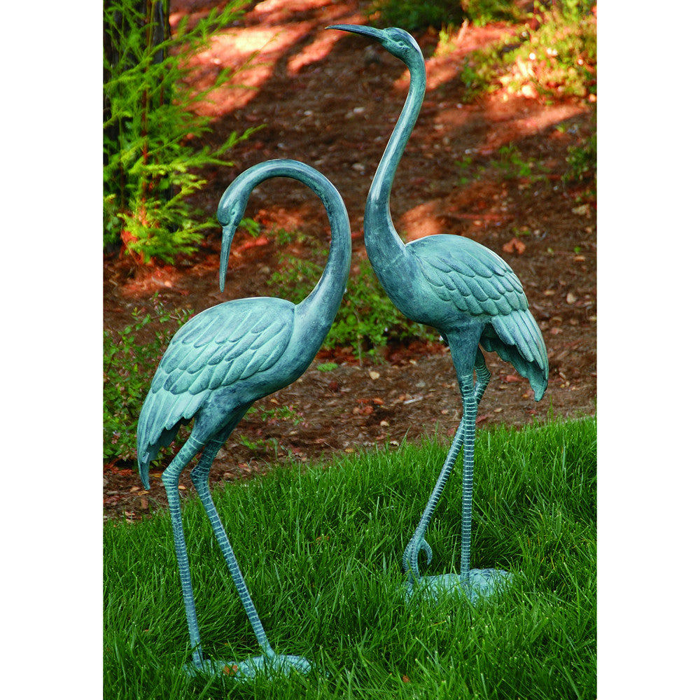 Medium Crane Pair Garden Statue from SPI - ArtsiHome