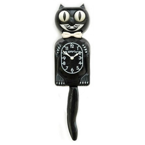 Small Kit-Cat Clock in Black with Wagging Tail - ArtsiHome