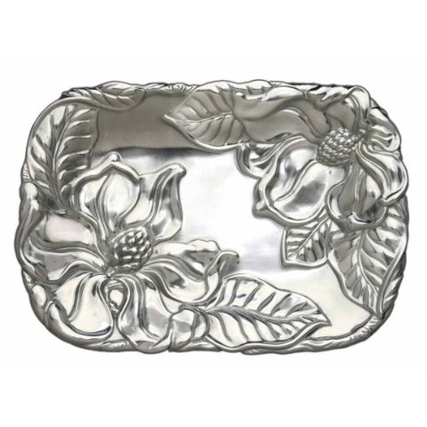 Arthur Court Aluminum Magnolia Catch All Tray - ArtsiHome