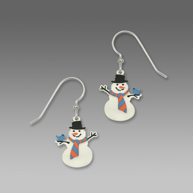 Sienna Sky Holiday Christmas Snowmen Earrings - ArtsiHome