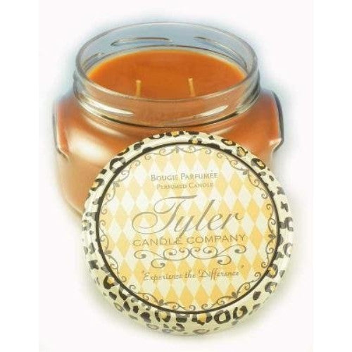 Tyler Glass Jar Candle - 22 Oz Long Burning Scented Candle - Pumpkin Spice Fragrance - ArtsiHome - Tyler