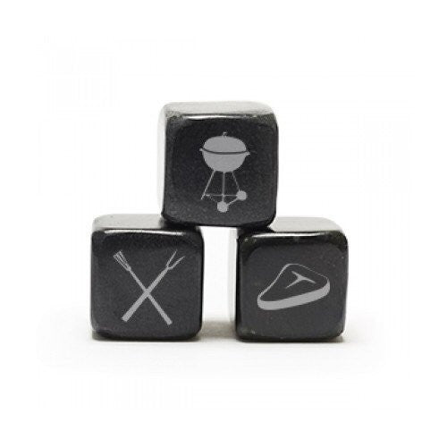 Teroforma Icon Whisky Stones Summer BBQ - Soapstone Beverage Cubes (Set of 3) - ArtsiHome