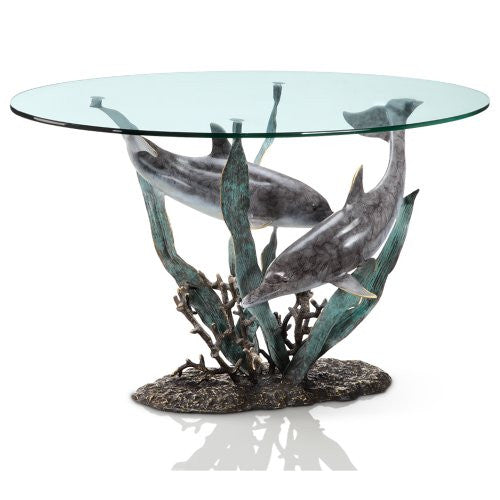SPI Home Collection - Dolphin Duet Coffee Table - ArtsiHome