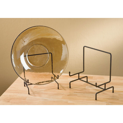Large Metal Platter Bowl Plate Stand Display - ArtsiHome