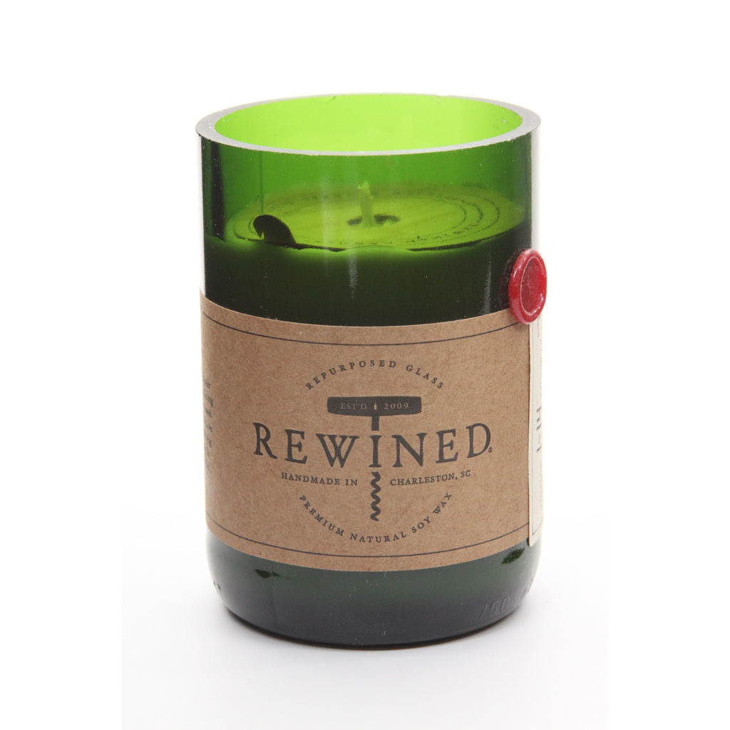 Rewined Recycled Wine Bottle Soy Wax Candle w/ Cabernet Scent - ArtsiHome