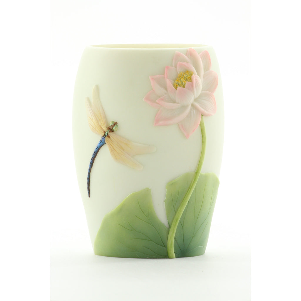 Dragonfly & Water Lily Night Lamp, Ibis & Orchid Nightlights, NIB, 55003 - ArtsiHome