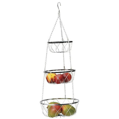 Hanging 3-Tier Fancy Baskets - ArtsiHome