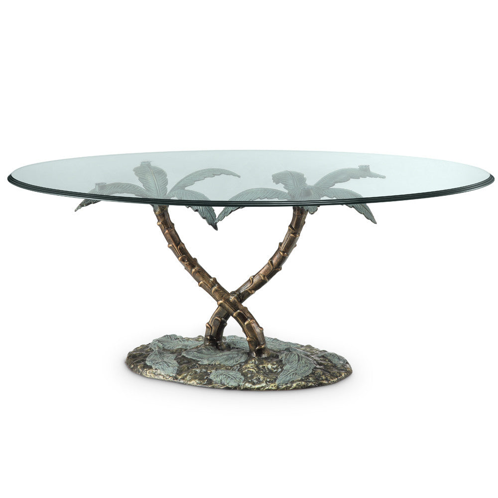 SPI Home Collection Palm Tree Coffee Table - ArtsiHome