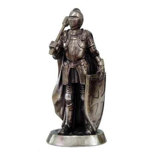 Medieval Knight Statue Crusader 9039 Sledge Hammer - ArtsiHome - Pacific Trading Company