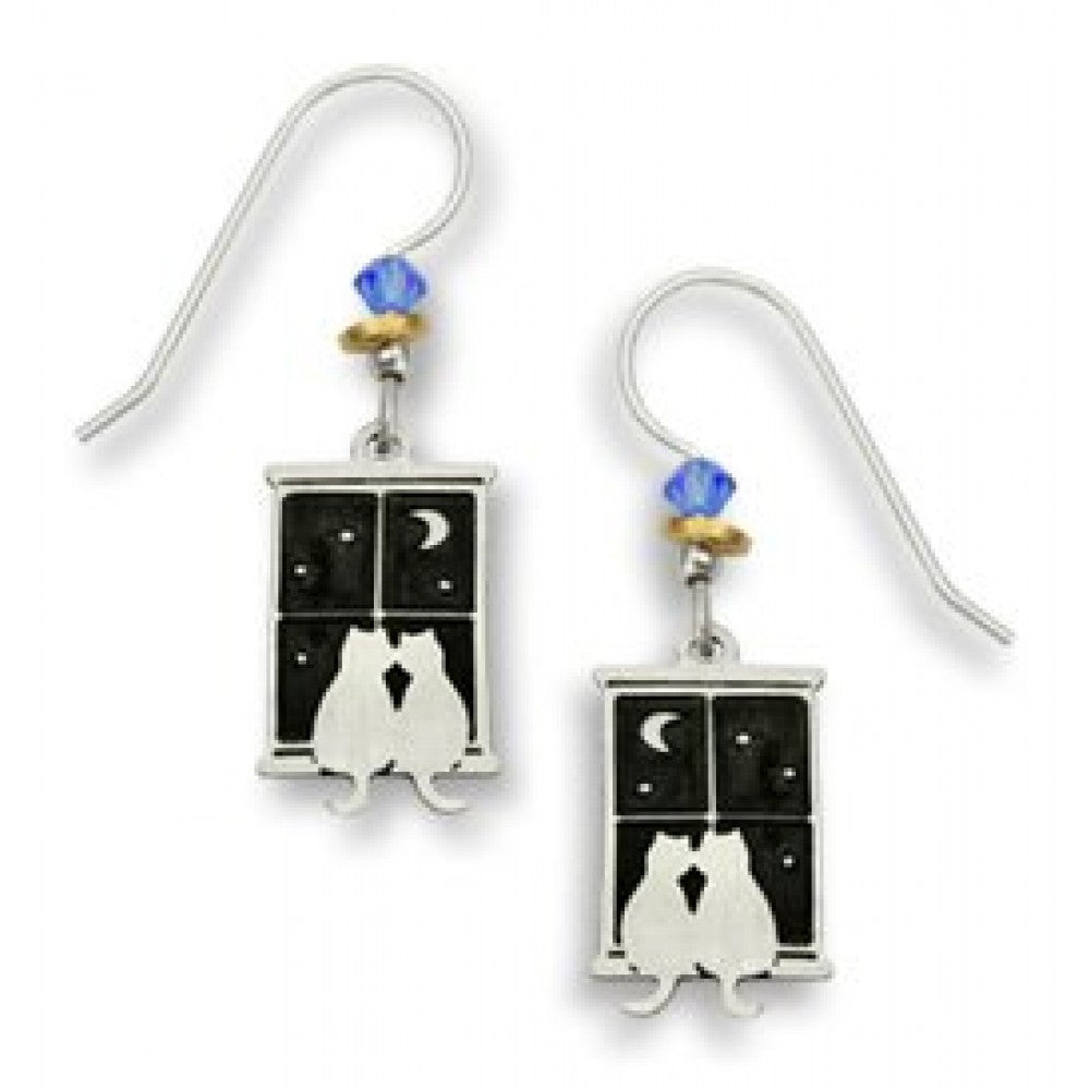 Sienna Sky Kitty Pals In Window Earrings - ArtsiHome