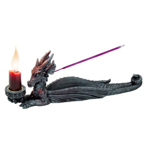 DRAGON INCENSE & CANDLE HOLDER - ArtsiHome