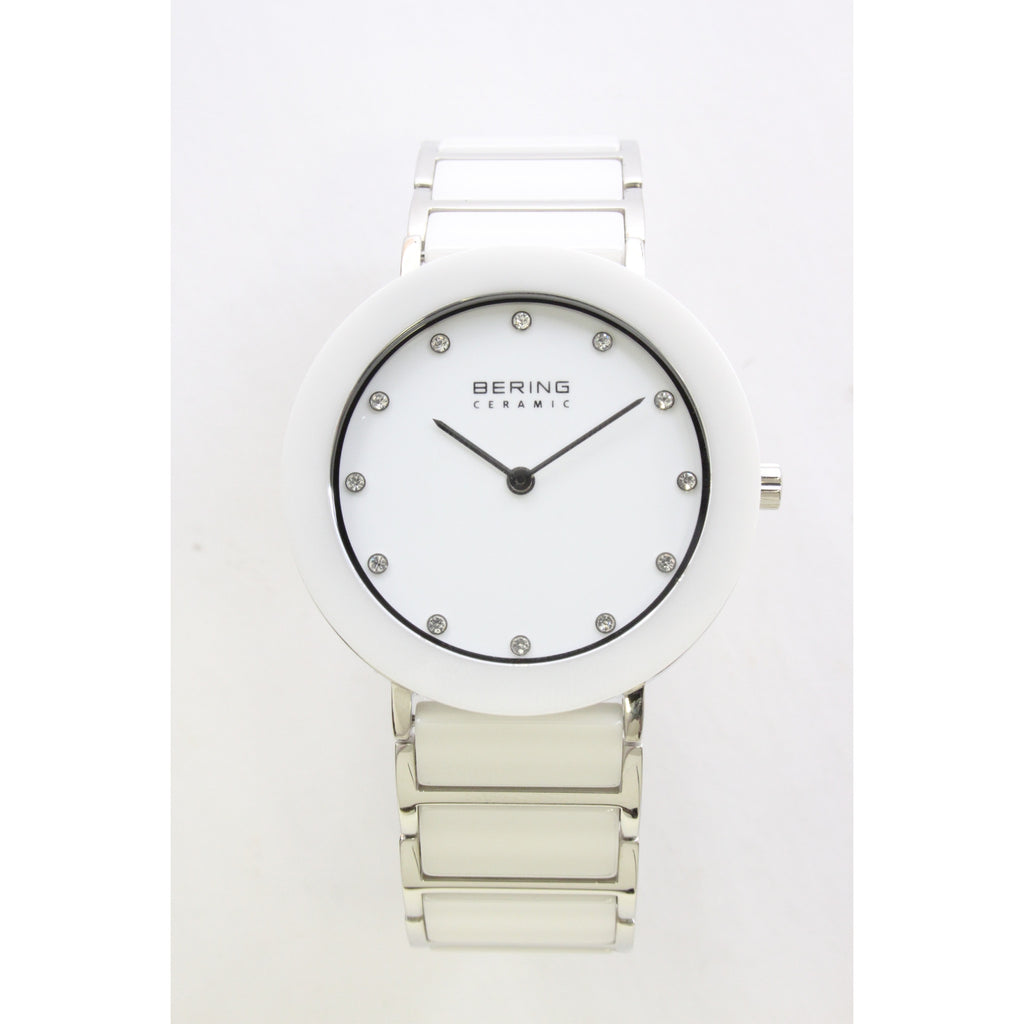 Bering Classic Slim Ladies Watch (White and Silver) - ArtsiHome