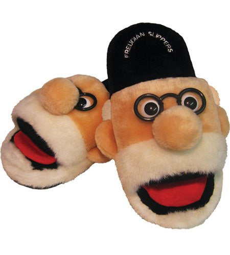 Sigmund Freud Freudian Plush Slippers (Medium) - ArtsiHome